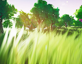 Stylized Foliage And Trees - Unreal Engine 3D model