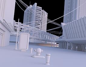 3D model City buildings set