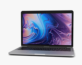 3D model Apple MacBook Pro 13 inch 2018 Touch Bar Silver