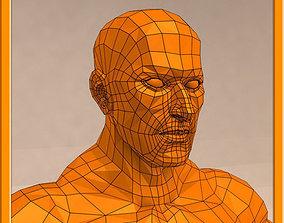 3D asset REALISTIC Male muscle set - 02