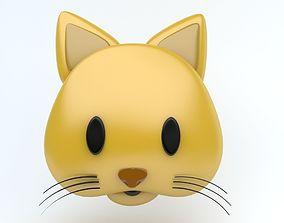 Cat emoji 3D model