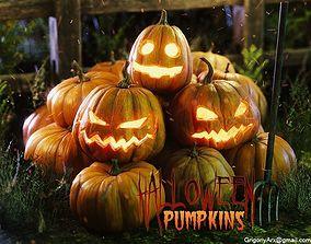 Halloween pumpkins and other stuff 3D model