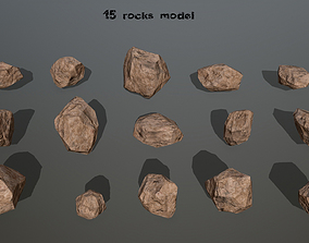 snow 3D asset realtime rocks