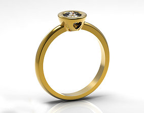 Simple Heart Engagement Ring 3D printable model