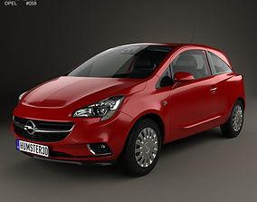 Opel Corsa E 3-door with HQ interior 2014 3D