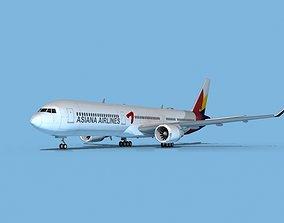 3D model Boeing 767-400 Asiana