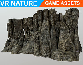 3D model Low poly Realistic Cave Wall A4 180611