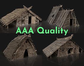 AAA NEXT-GEN VIKING MEDIEVAL NORSEMAN VILLAGE 3D model 1