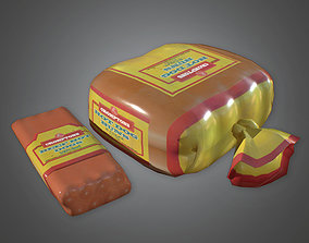 CAM - Hot Dogs and Buns Camping - PBR Game Ready 3D model