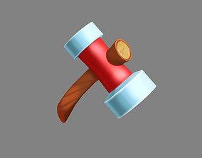 Cartoon tool - iron hammer 3D asset