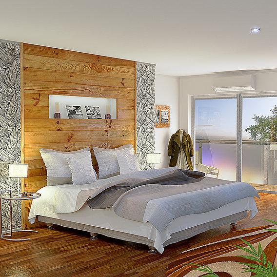 Bedroom (Blender + VRay)