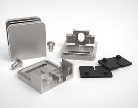 fastening glass holder model