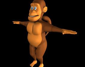 Chimpanji Cartoon 3D asset