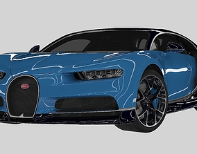 2018 Bugatti Chiron - Simple Interior 3D vehicle