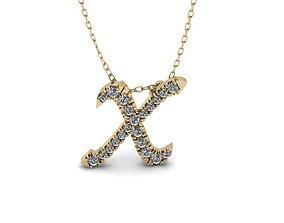 3D print model Pendant Alphabet Letter X