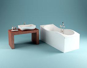3D VB Bathtube Set