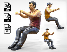 3D print model N1 Truck Driver with different hat