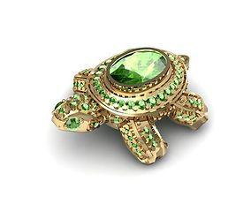 3D printable model turtle jewelry