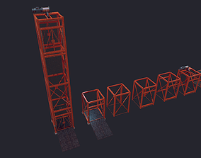 3D asset low-poly Construction Lift