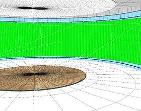 News Studio Greenscreen - set 002 3D model