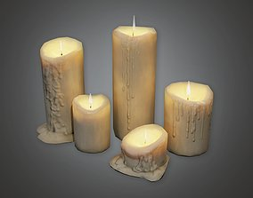 Cemetery Candles 1 CEM - PBR Game Ready 3D model
