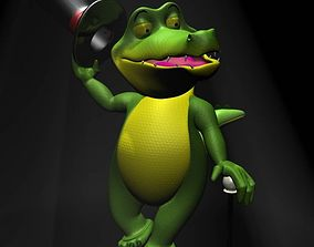 3D model Cartoon Crocodile RIGGED