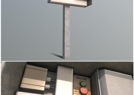 Pump Panel 3 - Control Element 7 (Low-Poly)