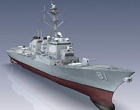 3D model Arleigh Burke Class Destroyer Flight IIA