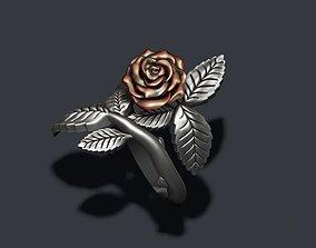 Rose ring leaf 3D printable model