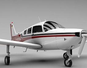 Beechcraft C-23 Sundowner Airplane 3D asset realtime