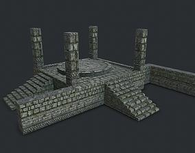 3D model Jungle Stone Altar Environment Game Assets