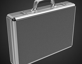 3D model metal suitcase aluminium