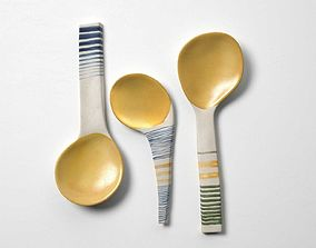 3D model Ceramic Spoons