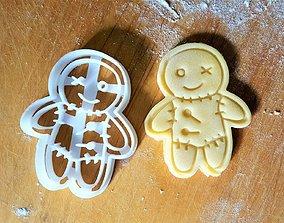 Voodoo Doll cookie cutter 3D printable model