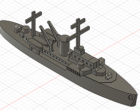 3D printable model Tsingtau - Torpedo boat floating base