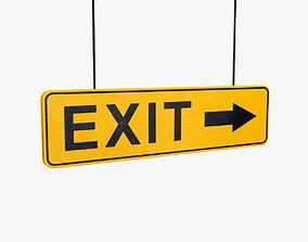 Exit sign commercial 3D