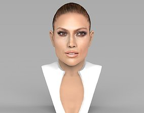 Jennifer Lopez bust ready for full color 3D