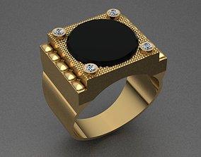 Onyx Men Ring 3D print model