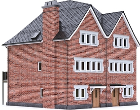 3D asset English Brick House 21