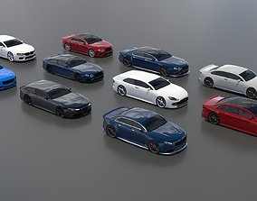 Generic 10 car pack 3D model