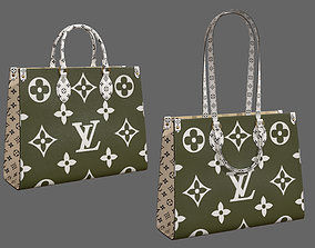 3D model Louis Vuitton Onthego Giant Monogram Khaki White
