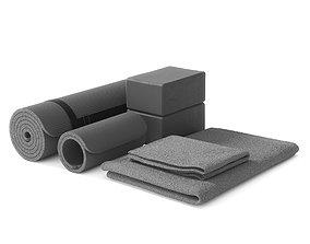 3D model Yoga set gray color