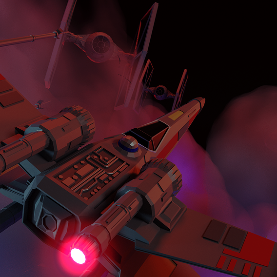 Star Wars LowPoly X-Wing fighter