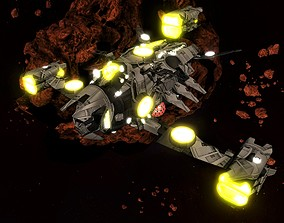 Kings - Heavy Fighter Ship - Updated 3D asset