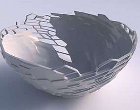 Bowl wide with reptile skin with holes 3D printable model