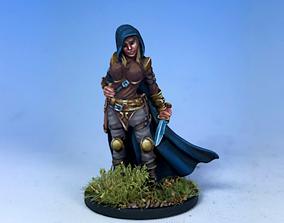 knife girl thief 3D printable model