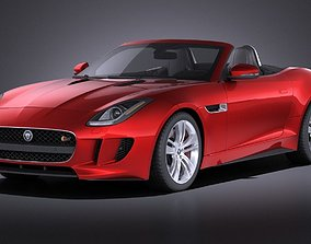 Jaguar F-Type 2015 cabrio VRAY 3D model