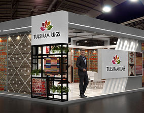 stand 8X5Mtr Exhibition Carpet Stall 3D model