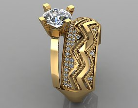 GC GOLD TW0155- Diamond ring 3D print model