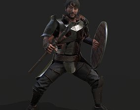 3D asset animated game-ready Warrior viking
